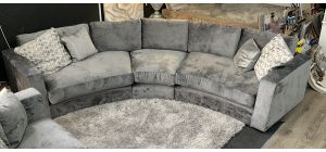Arch Grey Grand Curve Fabric Corner Sofa