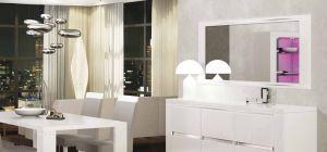 Elegance Diamond White Mirror