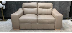 Venezia Taupe Regular Leather Sofa Sisi Italia Semi-Aniline Ex-Display Showroom Model 46829
