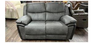Grey Endurance Fabric Regular Manual Recliner Sofa Ex-Display Showroom Model 46833