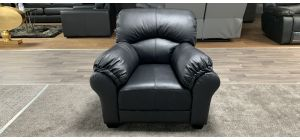 Small Black Bonded Leather Armchair Ex-Display Showroom Model 46842