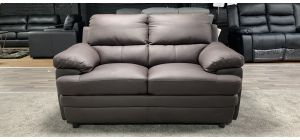 Brown Bonded Leather Regular Sofa Ex-Display Showroom Model 46848