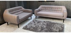 Twirl Grey Fabric 3 + 2 Sofa Set Mismatch Colours - Slight Mark On 3 Seater (see images) Ex-Display Showroom Model 46882_554