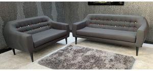 Twirl Dark Grey Fabric 3 + 2 Sofa Set Ex-Display Showroom Model 46884_551