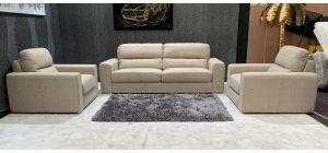 Piza Beige Fabric 3 + 1 + 1 Sofa Set Chrome Legs Ex-Display Showroom Model 46886_541