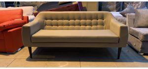 Twirl Beige Fabric Large Sofa Few Seat Marks (see images) Ex-Display Showroom Model 46892