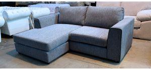Grey LHF Fabric Corner Sofa Chaise Ex-Display Showroom Model 46895