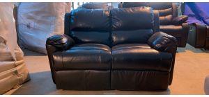 Brown Bonded Leather Regular Sofa Manual Recliner Ex-Display Showroom Model 46899