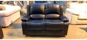 Black Bonded Leather Regular Manual Recliner Few Scuffs (see images) Ex-Display Showroom Model 46916