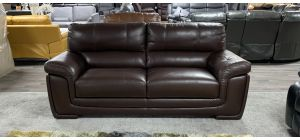 Brown Large Leather Sofa Sisi Italia Semi-Aniline - Marks On Both Top Seats - Few Scuffs (see images) Ex-Display Showroom Model 46924