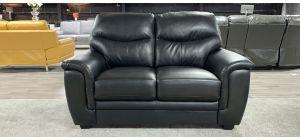 Regular Black Bonded Leather Regular Sofa Ex-Display Showroom Model 46934