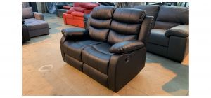 Black Bonded Leather Regular Manual Recliner - Few Scuffs (see images) Ex-Display Showroom Model 46974
