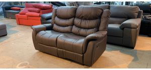 Brown Bonded Leather Regular Manual Recliner - Few Scuffs (see images) Ex-Display Showroom Model 46975