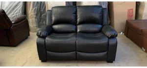 Black Bonded Leather Static Regular Sofa Ex-Display Showroom Model 46981