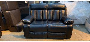 Somerton Black leathaire Regular Sofa Manual Recliner Ex-Display Showroom Model 47016