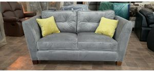 Canterbury Grey Regular Fabric Sofa With Wooden Legs Ex-Display Showroom Model 47067