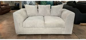 Cream Jumbo Cord Regular Fabric Sofa With Scatter Back - Few Marks (see images) Ex-Display Showroom Model 47074