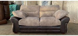 Brown Regular Fabric Sofa With Wooden Legs Ex-Display Showroom Model 47087