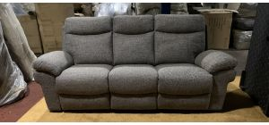 Tanya Grey Fabric Large Sofa Manual Recliner Ex-Display Showroom Model 47140