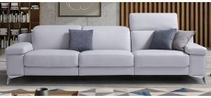 Hypnose Lilac Leather 3 + 2 Sofa Set Electric Recliner With Chrome Legs Newtrend Available In A Range Of Leathers And Colours 10 Yr Frame 10 Yr Pocket Sprung 5 Yr Foam Warranty