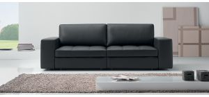 Panther Black Leather 3 + 2 Sofa Set Newtrend Available In A Range Of Leathers And Colours 10 Yr Frame 10 Yr Pocket Sprung 5 Yr Foam Warranty