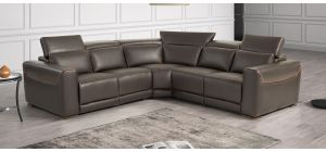 Thelma Brown 2C2 Leather Electric Corner With Adjustable Headrests And Wooden Legs Newtrend Available In A Range Of Leathers And Colours 10 Yr Frame 10 Yr Pocket Sprung 5 Yr Foam Warranty