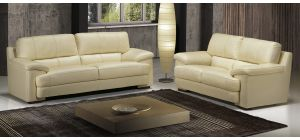 Bello Ivory Leather 3 + 2 Sofa Set With Wooden Legs Newtrend Available In A Range Of Leathers And Colours 10 Yr Frame 10 Yr Pocket Sprung 5 Yr Foam Warranty