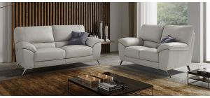 Envy Ivory Leather 3 + 2 Sofa Set With Chrome Legs Newtrend Available In A Range Of Leathers And Colours 10 Yr Frame 10 Yr Pocket Sprung 5 Yr Foam Warranty