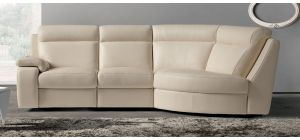 Harry Cream RHF Semi-Aniline Leather Corner Sofa Newtrend Available In A Range Of Leathers And Colours 10 Yr Frame 10 Yr Pocket Sprung 5 Yr Foam Warranty