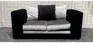 Dylan Black Regular Fabric Sofa With Scatter Back Ex-Display Showroom Model 47480