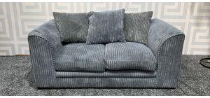 Dylan Grey Regular Fabric Sofa With Scatter Back Ex-Display Showroom Model 47481