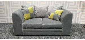Neo Grey Regular Fabric Sofa With Scatter Cushions Ex-Display Showroom Model 47483
