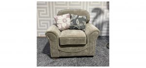 Boyant Light Grey Fabric Armchair With Scatter Cushions Ex-Display Showroom Model 47504