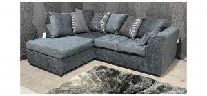 Zina Grey LHF Fabric Corner Sofa With Scatter Back Ex-Display Showroom Model 47521