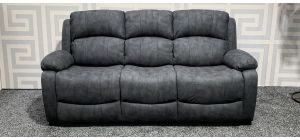 Grey Large Static Nubuck Fabric Sofa Ex-Display Showroom Model 47525