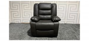 Roma Brown Bonded Leather Armchair Manual Recliner - Few Scuffs (see images) Ex-Display Showroom Model 47540