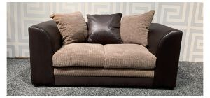 Dylan Brown Regular Fabric Sofa With Scatter Back Ex-Display Showroom Model 47551