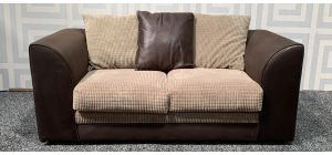 Dylan Brown Regular Fabric Sofa With Scatter Back Ex-Display Showroom Model 47552