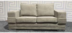 Kudos Beige Regular Fabric Sofa With Chrome Legs Ex-Display Showroom Model 47560