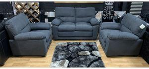 Sophia Grey Fabric 2 + 1 + 1 Sofa Set Ex-Display Showroom Model 47674