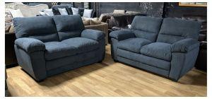 Sophia Dark Grey Fabric 2 + 2 Sofa Set Ex-Display Showroom Model 47681
