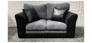 Dylan Black And Grey Jumbo Cord Regular Fabric Sofa - 1cm Scuff On Lower Left Arm (see images) Ex-Display Showroom Model 47689