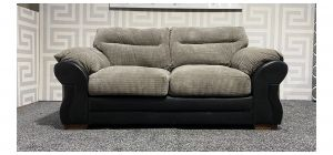 Juno Black And Seal Regular Fabric Sofa With Wooden Legs Ex-Display Showroom Model 47701