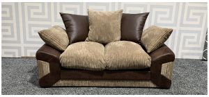 Dino Brown Regular Fabric Sofa With Scatter Back Ex-Display Showroom Model 47711
