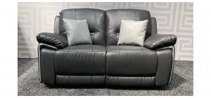 Henry Grey Leathaire Regular Sofa Manual Recliner Ex-Display Showroom Model 47720