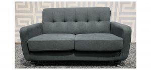 Grey Mini Regular Fabric Sofa With Chrome Legs Ex-Display Showroom Model 47721