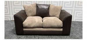 Dylan Brown Regular Fabric Sofa With Scatter Back Ex-Display Showroom Model 47722