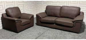 Amy Brown Bonded Leather 3 + 1 Sofa Set Few Marks (see images) Ex-Display Showroom Model 47727