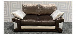 Pose Brown Crushed Velvet Regular Fabric Sofa Ex-Display Showroom Model 47747