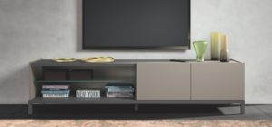 Kali Taupe Two Door Open TV Unit